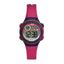 FILA Kids Digital Watch - 11 Year Old Girl Gifts - Girls Watches Ages 11-15 - Gifts for Preteen Girls - Kids Sports Watch - Girls Digital Watch - Kids Silicone Watch - Kids Fila Watch - Pink Watch
