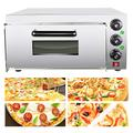 IXAER Electric Pizza Oven Maker Commercial Oven 2000W Stainless Steel Countertop Snack Oven Thermometer Single Pizza / Bread/ Cake Toaster Oven Multipurpose Oven for Restaurant Home Pizza Pretzels Baked Dishes