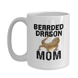 Funny Bearded Dragon Mug Pet Lizard Mom Coffee Cup Dad Breed Kid Reptile Keeper