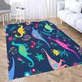 Neutral Area Rug,Shorping Modern Area Rug 2X3 Area Rugs for Girls Dinosaurs Cute Kids Pattern Girls and Boys Colorful Cartoon Indoor Outdoor Rug Rugs for Living Room Big Soft Area Rug