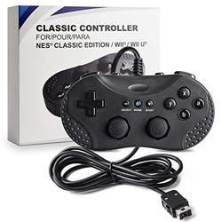 suily Classic Controller for Wii/Wii U/NES Mini, 3 in 1 Retro Gaming Controller Wired Gamepad Joystick for The Wii,Wii U,NES Classic Edition (NES Mini) Console (Black)