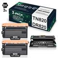 (1-Pack DR820 Drum + 2-Pack TN820 Toner) Compatible for Drum and Toner Cartridge Replacement for Brother DCP-L5500DN L5650DN MFC-L6700DW L5700DW HL-L6200DW/DWT L6250DW Printer, Toner Cartridge.