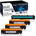 4 Pack(3PK 30X|CF230X Toner+1PK 32A|CF232A Drum) Black Compatible Drum &Toner Cartridge for HP Laserjet Pro M203dn M203dw M203d MFP M227sdn MFP M227fdw MFP M227fdn Printer Toner Cartridge.