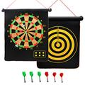"""Songgang Magnetic Dart Board for Indoor and Outdoor, 15"""" Magnetic Dart Set for Kids and Adults with 6 Magnetic Darts"""