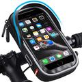 Bicycle Handlebar Bag, Waterproof Mobile Phone Bag, Highly Sensitive Touch Screen, 360-degree Rotation, Suitable for 3.5-6.5 inch Smartphones