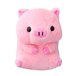 40cm Lovely Fat Round Pig Plush Toys Stuffed Cute Animals Dolls Baby Piggy Kids Appease Pillow for Girls Birthday (Color : Pink)