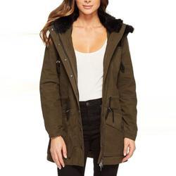 Anthropologie Jackets & Coats | Blanknyc - Paradise Faux Fur Trim Jacket | Color: Black/Green | Size: L