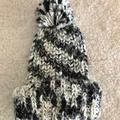 American Eagle Outfitters Accessories | American Eagle Knitted Beanie | Color: Black/White | Size: Os