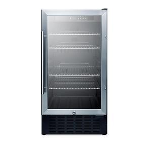 Summit Appliance 18 in. 2.7 cu. ft. Mini Refrigerator with Glass Door in Black, Glass door/black cab