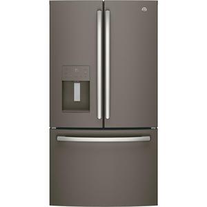 GE 25.6 cu. ft. French-Door Refrirator in Slate, Finrprint Resistant and ENERGY STAR, Fingerprint Re