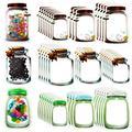 50 Pieces Mason Jar Bottles Bags Mason Jar Zipper Lock Bags Reusable Food Storage Bags Snacks Sandwich Zipper Sealed Bags Fresh Bags Airtight Seal Storage Bags Nuts Candy Cookies Bags