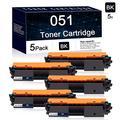 Compatible 5-Pack Black Canon 051 Toner Cartridge Used for Canon ImageCLASS LBP161dw LBP162dw MF263dw MF264dw MF266dw MF267dw MF269dw ; Canon i-SENSYS MF260/LBP260 Series Printers