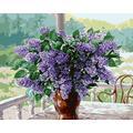 DFGDFG Thème Peinture Numérique Toile Toile Murale Violet Paysage Fleur Adultes Débutant avec Brosses et Acrylique Pigment Décor Décorations Cadeaux - 16 * 20 Pouces