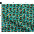 Spoonflower Fabric - Chocolate Labrador Retriever Lab Pizza Food Pizzas Novelty Foods Printed on Petal Signature Cotton Fabric by The Yard - Sewing Quilting Apparel Crafts Decor