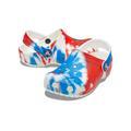 Crocs Multi / White Kids' Classic Tie-Dye Graphic Clog Shoes