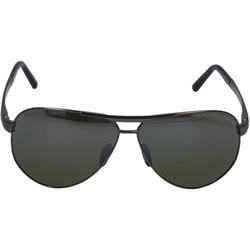 Sonnenbrille Aviator 8649 I Titan Silber Schwarz - White - Porsche Design Sunglasses