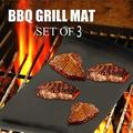 Lexon XLarge Grill Mat Set of 3-100% Non-Stick BBQ Grill Mats. Heavy Duty Non-Stick Reusable BBQ Grill Mat Baking Liner Cooking Pad Easy to Clean 15.75 x 24