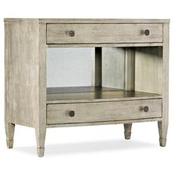 Hooker Furniture Sanctuary 2 Gemme 2 Drawer Solid Wood Nightstand Silver Wood in Brown/Gray, Size 32.0 H x 37.0 W x 20.0 D in | Wayfair