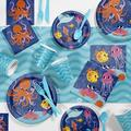 Creative Converting Ocean Party Supplies Kit for 8 GuestsHeavy Duty Paper in Blue/Pink | Wayfair DTC5671E2A