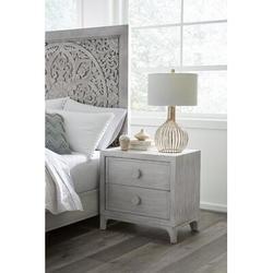 Modus Furniture Boho Chic 2 Drawer Nightstand Wood in White, Size 27.0 H x 28.0 W x 18.0 D in | Wayfair 1JQ981