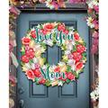 The Party Aisle™ Meaux Flowers Summer Wreath Gadern Art Wood in Brown, Size 12.0 H x 9.0 W x 1.0 D in | Wayfair 4F047EB2E5294AAB8B9463D97ACE9111