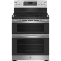 """GE JBS86 30"""" Free-Standing Electric Double Oven Convection Range Stainless Steel"""