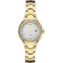Solar Diamond Collection Diamond-accent Gold-tone Stainless Steel Bracelet Watch 29mm - Metallic - Seiko Watches