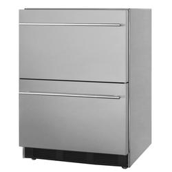 "Summit SP6DBS2D7ADA 24"" W Undercounter Refrigerator w/ (1) Section & (2) Drawers, 115v"