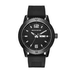 Men's Skechers Redondo Black Silicone Watch, Size: XL
