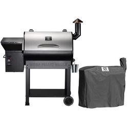 """Z Grills 48"""" BBQ Smoker Wood Pellet Grill in Gray, Size 51.0 H x 48.0 W x 22.0 D in   Wayfair ZPG-7002E"""