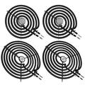"""WB30M1 and WB30M2 Surface Element Kit by Beaquicy - Replacement for Kenmore GE Range Stove Burner - 2 Pack WB30M1 Range 6"""" Surface Burner Element with 2 Pack WB30M2 Range 8"""" Surface Burner Element"""