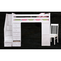 Resort Life Twin Staircase Student Loft Bed in Cloud White (Eola Collection)