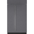 Sub-Zero BI-48S 48 Inch Wide 28 Cu. Ft. Energy Star Rated Side By Side Refrigerator Panel Ready