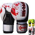 Farabi Sports Boxing Gloves Training Punching Bag Kick Boxing Muay Thai Bag Gloves (Gel White, 10-oz)