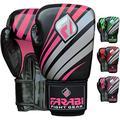 Boxing Gloves Training Punching Bag Kick Boxing Muay Thai Bag Gloves (Far-Tech Pink, 12-oz)