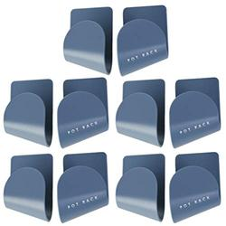 Hemoton 5 Pairs of Wall Mount Pot Lid Organizers Racks Plastic Pot Lid Storage Racks Holders for Kitchen Wall (Blue)