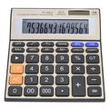 14 Digit Large Display Calculator,Professional Desk/Office/Business/Financial Calculator,Solar and AA Battery Dual Powered,Elegant Gold