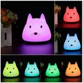 Dog Nursery Night Light Multicolor Portable USB Rechargeable Silicone Night Lights Button Switch Cute Animal Nightlight Lamp Bedroom Living Room Decor