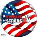 On The Ball Bowling Bowling Strong USA Flag Bowling Ball