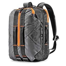 High Sierra Dells Canyon Travel Backpack, Mercury/Black/Electric Orange, One Size