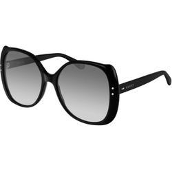 GG0472S Women's Rectangle Sunglasses - Black - Gucci Sunglasses