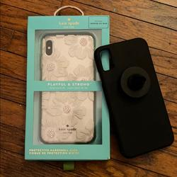 Kate Spade Accessories   2 Phone Cases & Car Mount: Iphone Xs Max !   Color: Black/Pink/White   Size: Os