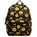 Choco Mocha Sunflower Mini Backpack for Girls Toddler Small Backpack Purse for Little Girls Tiny Backpacks kids Mini Back Packs Birthday Gifts, Black Sunflowers
