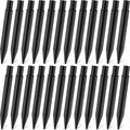 8.26 Inch Plastic Ground Spikes Stakes Solar Lights Spikes Replacement ABS Lights Stakes for Christmas Garden Lights (24 Pieces)