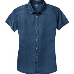 Port & Company Ladies Short Sleeve Value Denim Shirt. LSP11 [Apparel]