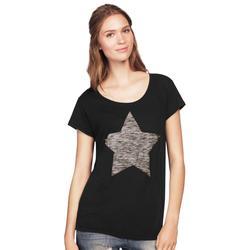 Plus Size Women's Love Ellos Tee by ellos in Black Stars (Size L)
