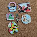 Disney Accessories   Authentic Disney Trading Pin Starter Set (6 Pins)   Color: Green/Red   Size: Os