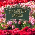 Whitehall Products Song Bird Personalized Garden Sign Metal, Size 14.0 H x 9.0 W x 0.33 D in | Wayfair 2529GG