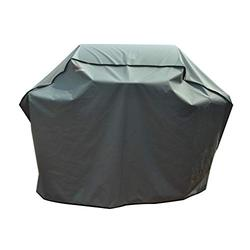 """BroilPro Accessories 58"""" Heavy Duty Waterproof Gas Grill Cover fits Weber Char-Broil Coleman Gas Grill-Gray"""