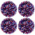 66 Feet Patriotic Red White and Blue Twist Garlands Metallic Tinsel Garlands Colorful Festooning Hanging Garlands for 4th of July Decorations
